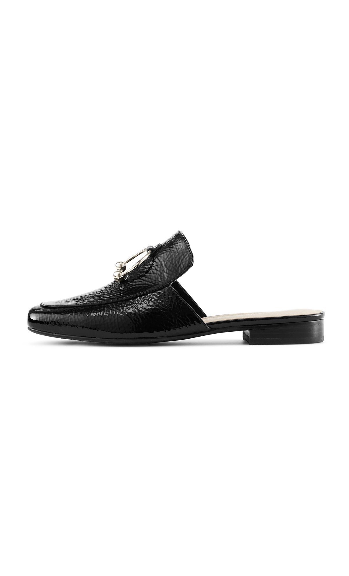 The Maya Patent Leather Slide | Black