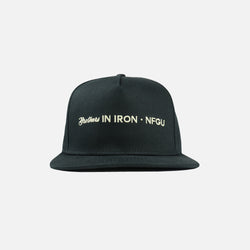 Ohana In Iron Snapback in Black
