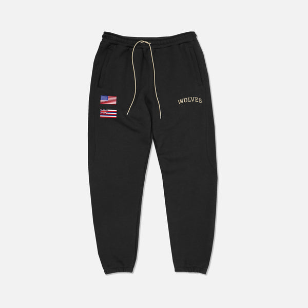 Ohana Everyday Cropped  Sweat Pants in Black