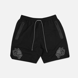 Fasted Track Shorts in Black/White