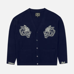Wolves Cardigan in Navy