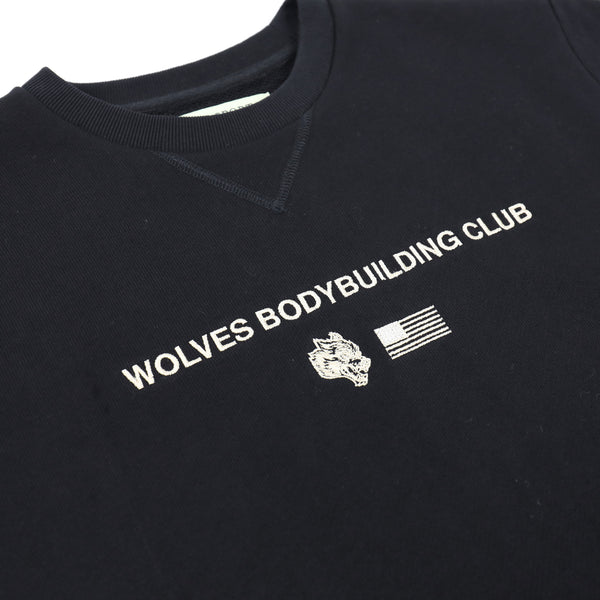 Wolves United Cap Sleeve Crewneck Sweater in Black