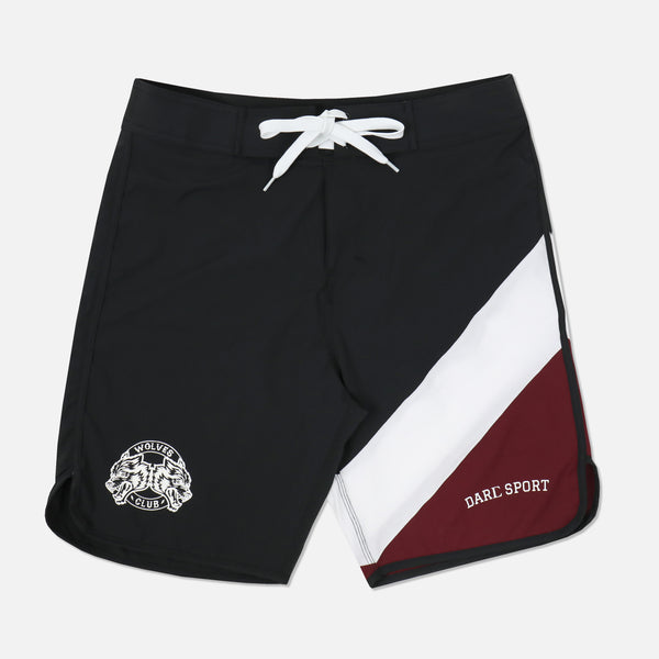 GT 911 V2 Stage Shorts in Black/White/Maroon