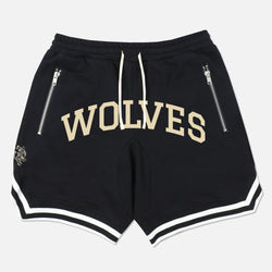 Wolves Varsity French Terry Court Shorts in Black