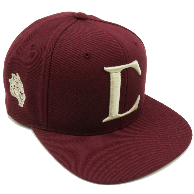 Big C Snapback in Maroon