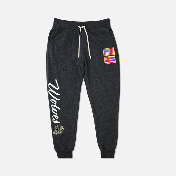 Ohana Vintage Sweat Pants in Black