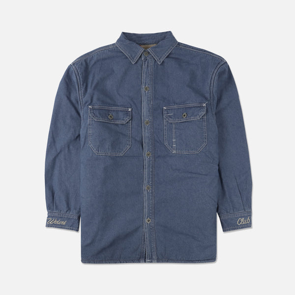 Denim Work Shirt in Indigo