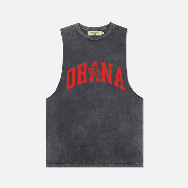 Family Muscle Tee in Vintage Black/Red