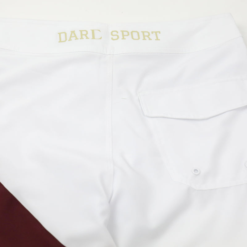 Sacrifice (GT 911) Stage Shorts in White/Maroon/Black