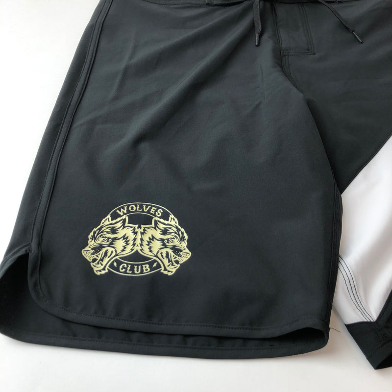 Sacrifice Stage Shorts in Black/White Stripe