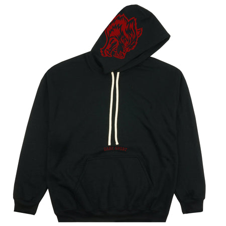 Inner Wolf Heavyweight Hoodie in Black/Red