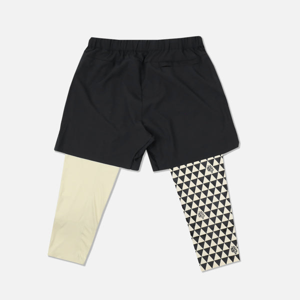 Mana 3/4 Length Compression Shorts in Black/Cream