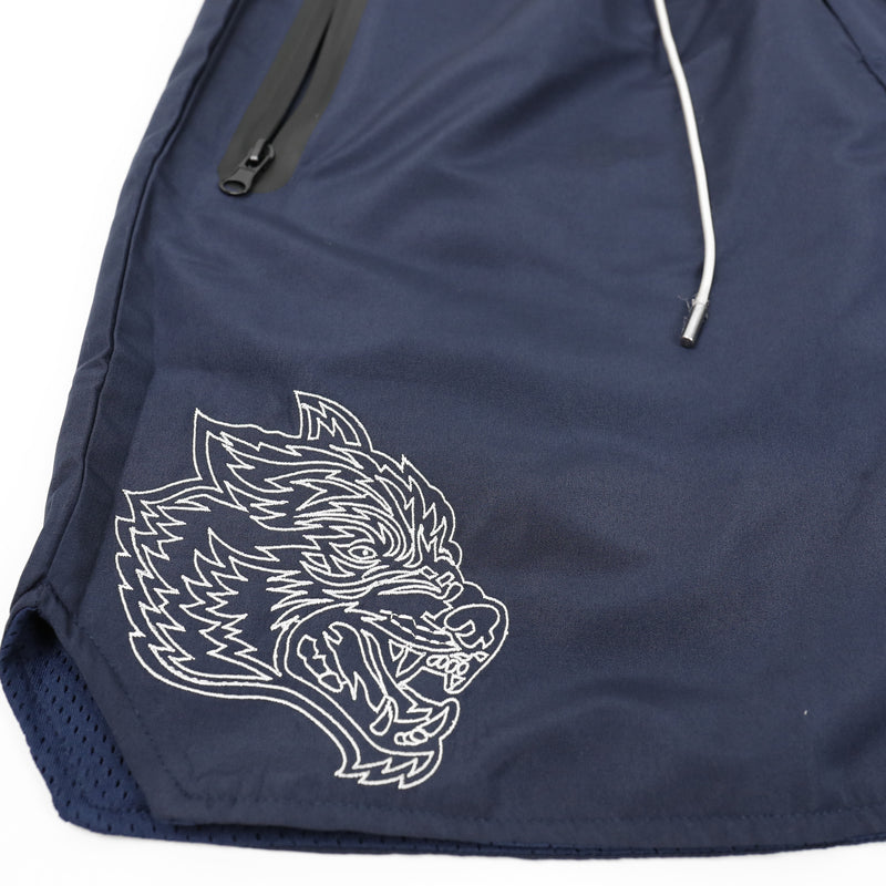 Fasted Track Shorts in Navy/White