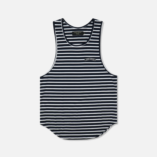 N.Y. Yates Stripe Drop Tank in Navy/White