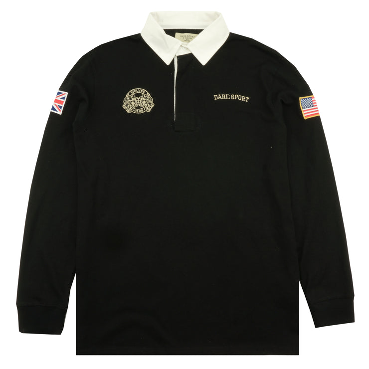 Team Rugby LS Shirt In Black