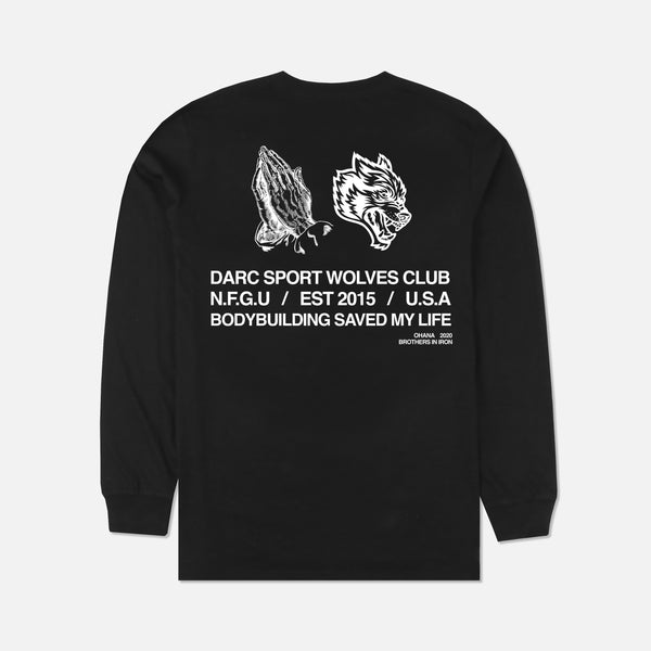 Pray For Us (LS) Tee in Black