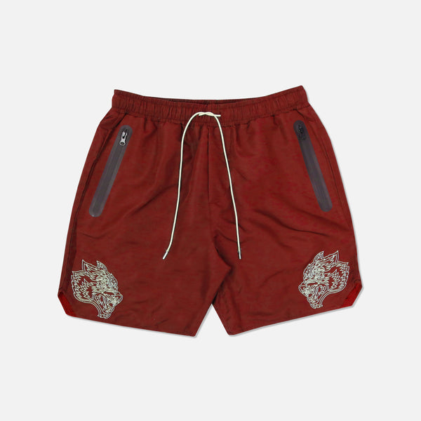 Fasted Track Shorts in Cardinal/Tan