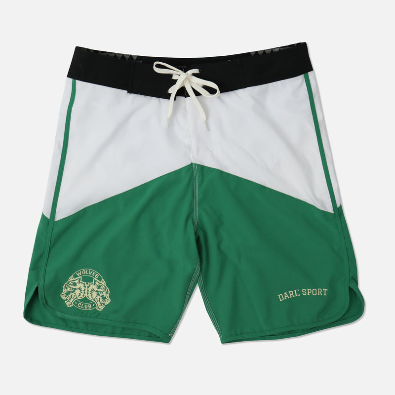 Ohana Stage Shorts in Black/White/Green