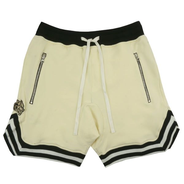 Wolves Club Fleece Court Shorts in Cream