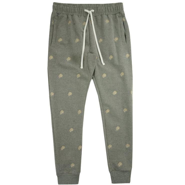 Club Print Embroidered Joggers in Athletic