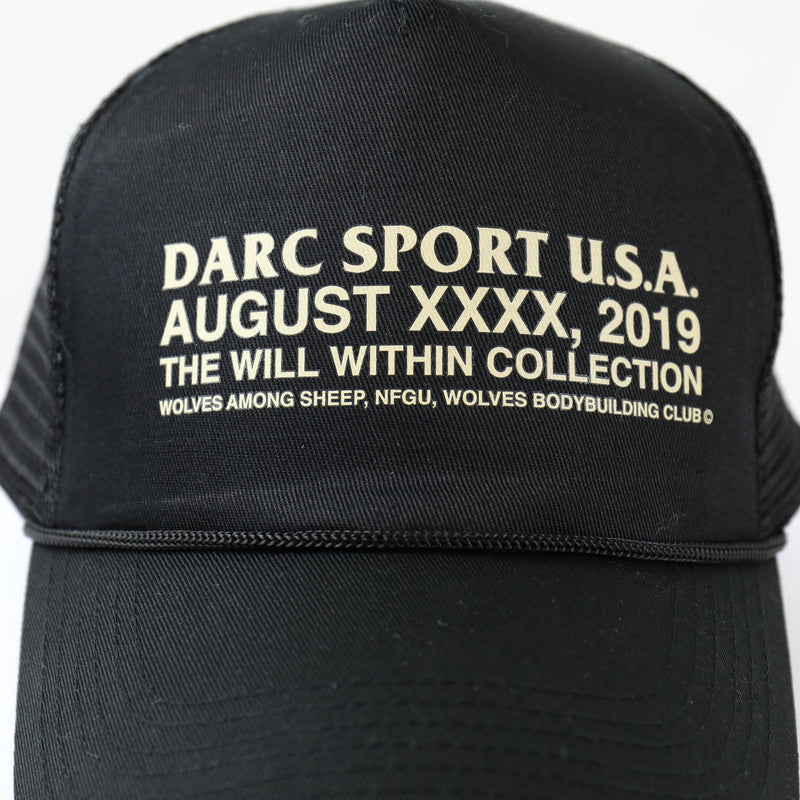USA Trucker Hat in Black