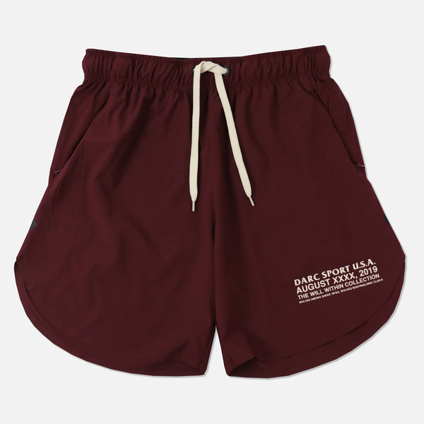 USA Flex Shorts in Maroon