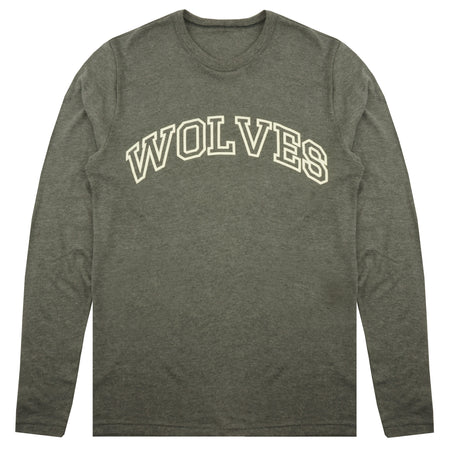 Wolves Varsity LS Keeper Tee in Heather Gray