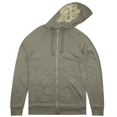 Inner Wolf Zip Up Hoodie in Athletic