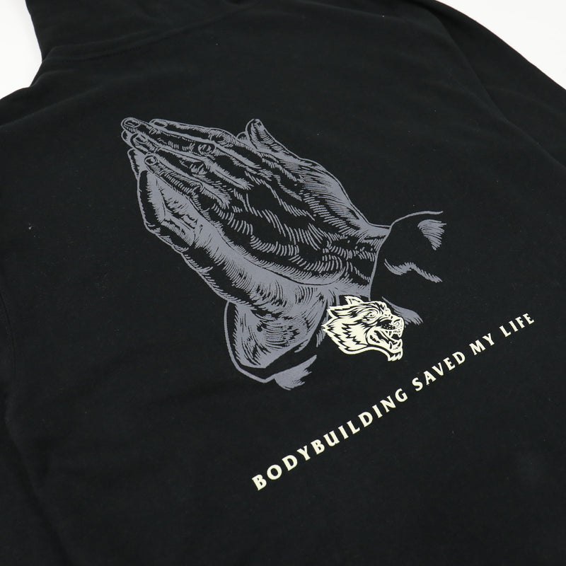 Bodybuilding Saved My Life V2 Zip Up Hoodie in Black