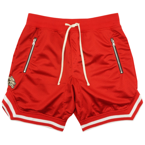 Wolves Club Court Shorts in Red/Red