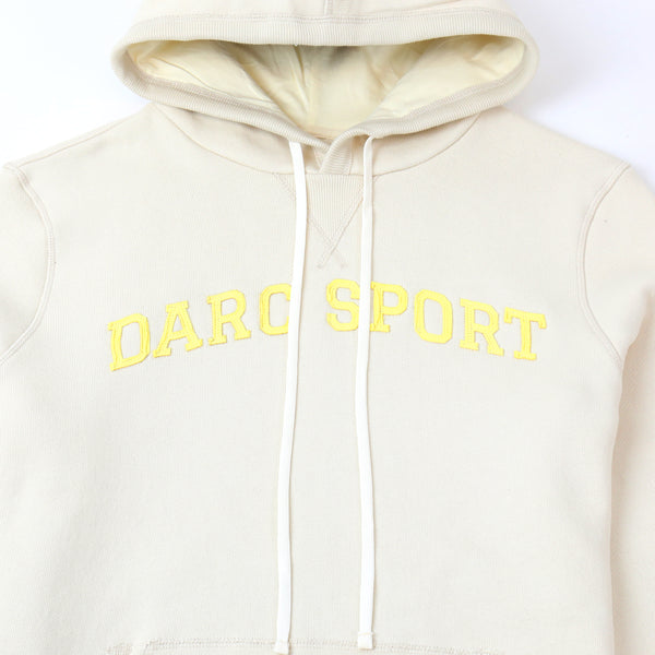 Arch Applique Hoodie in Cream
