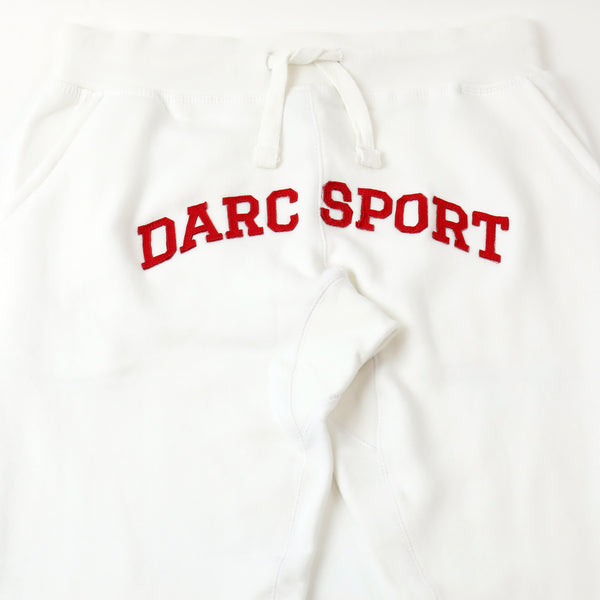 Arch Applique Jogger in White