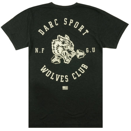 Wolves Bar Tee in Tri Black