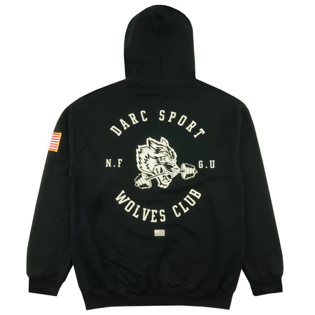 Wolves Bar Hoodie in Black