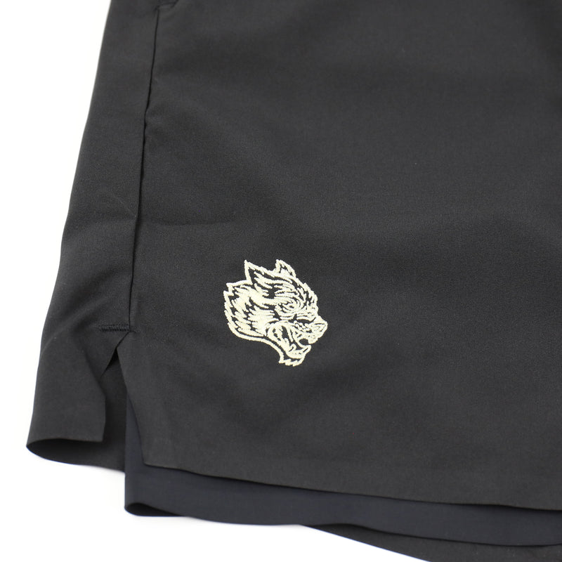 Wolves Compression Shorts in Black/Black