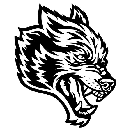 Wolves Decal Sticker In Black