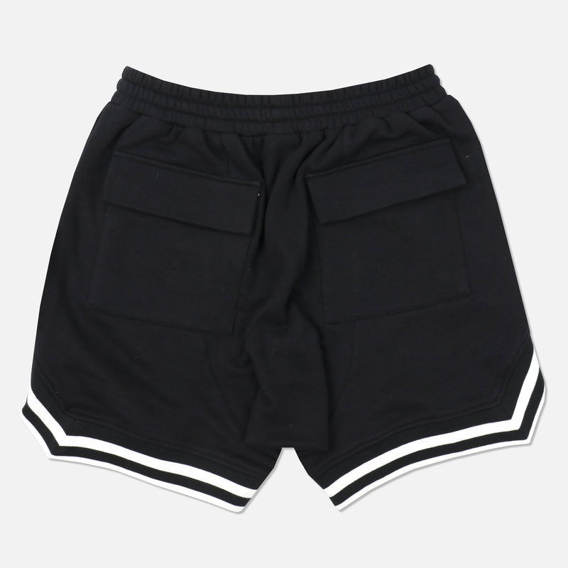 Wolves Club French Terry Court Shorts in Black