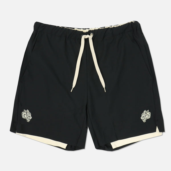 Wolves Compression Shorts in Black/Cream