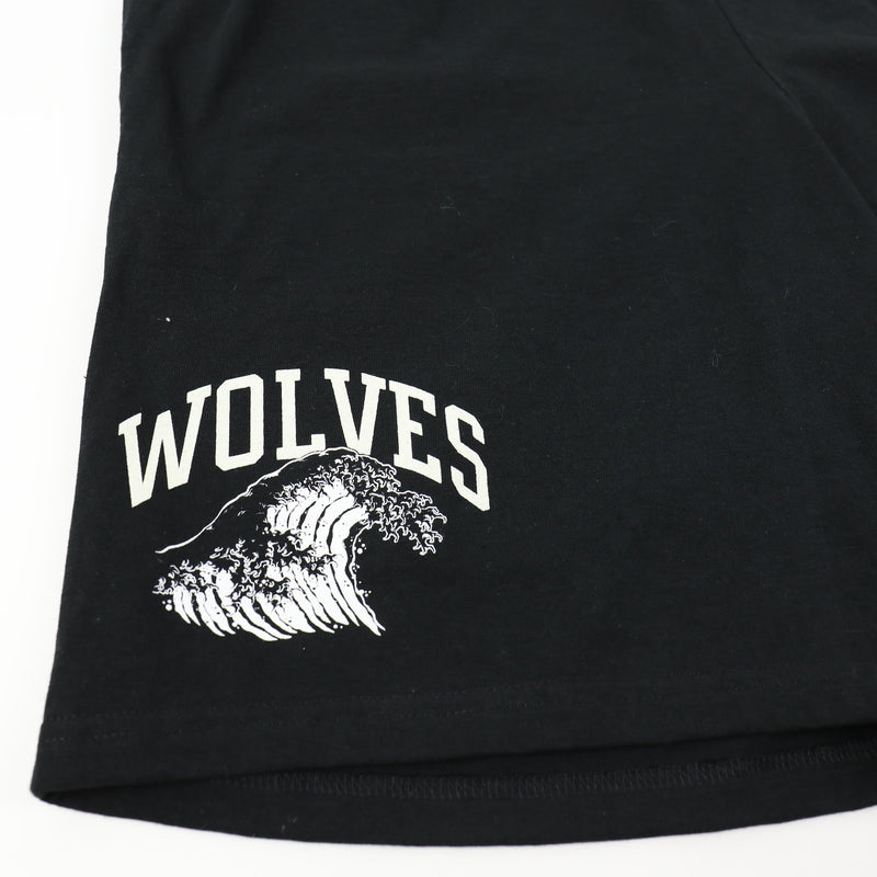 Waves Don't Stop Champion Shorts in Black