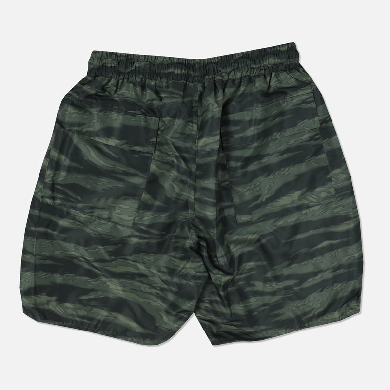 Fasted Track Shorts in Wolf Camo Green