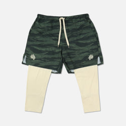 Wolves 3/4 Length Compression Shorts in Wolf Camo/Tan