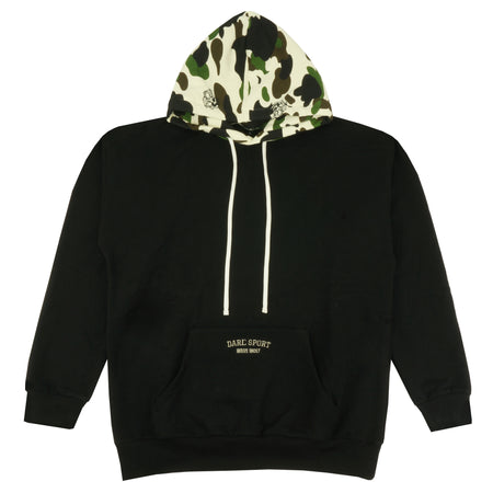Wave Wolf Camo Hoodie in Black