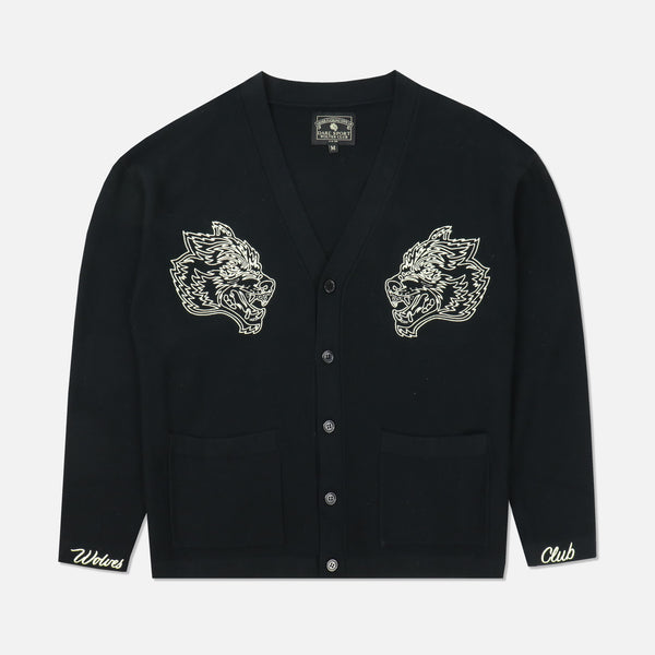 Wolves Cardigan in Black