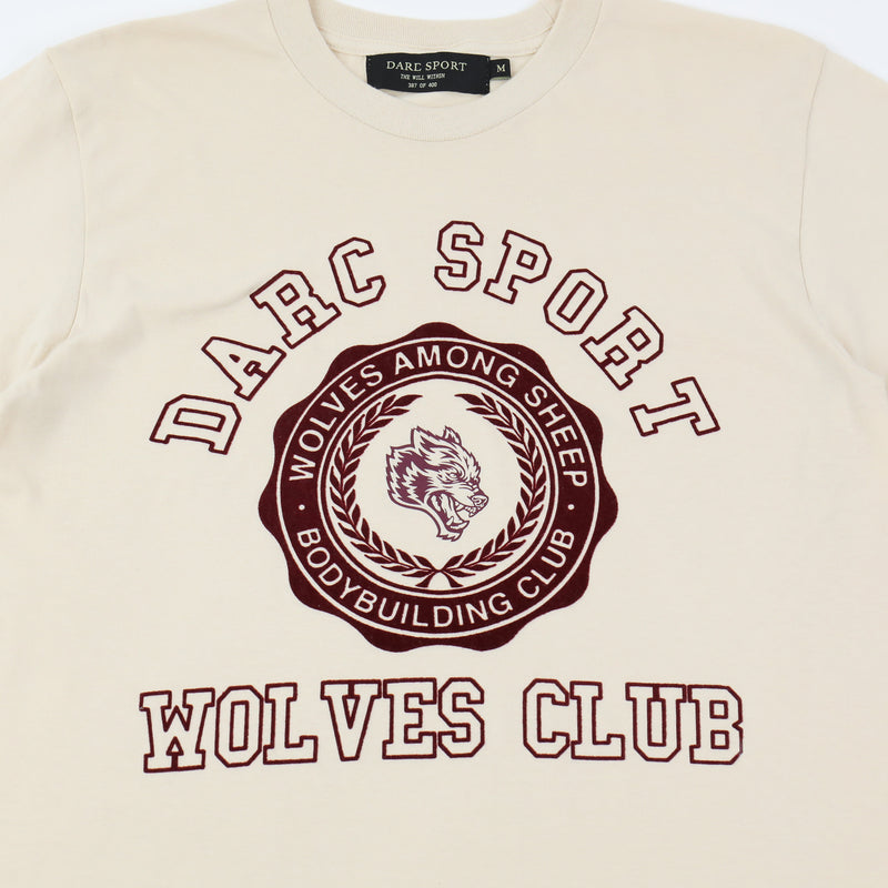 Wolves College Tee in Cream