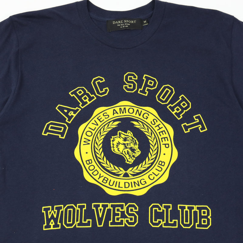 Wolves College Tee in Navy