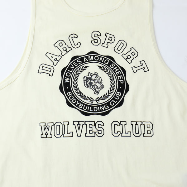 Wolves College Drop Tank in Cream/Black