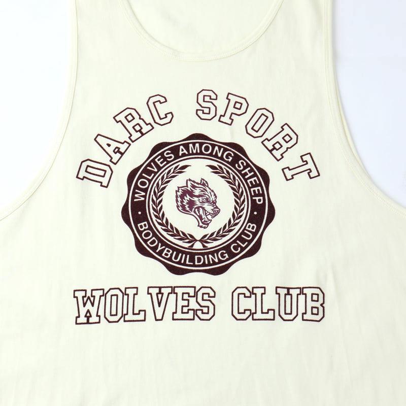 Wolves College Drop Tank in Cream/Cardinal
