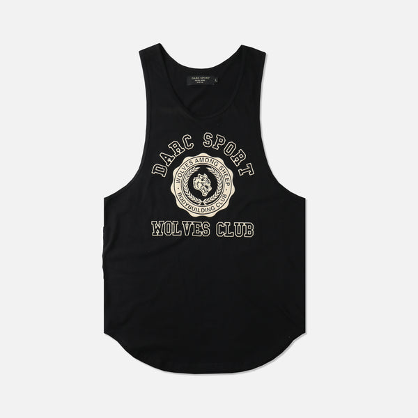 Wolves College Drop Tank in Black