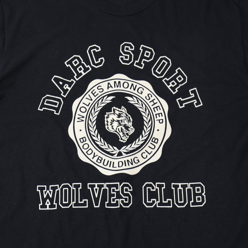 Wolves College Tee in Black