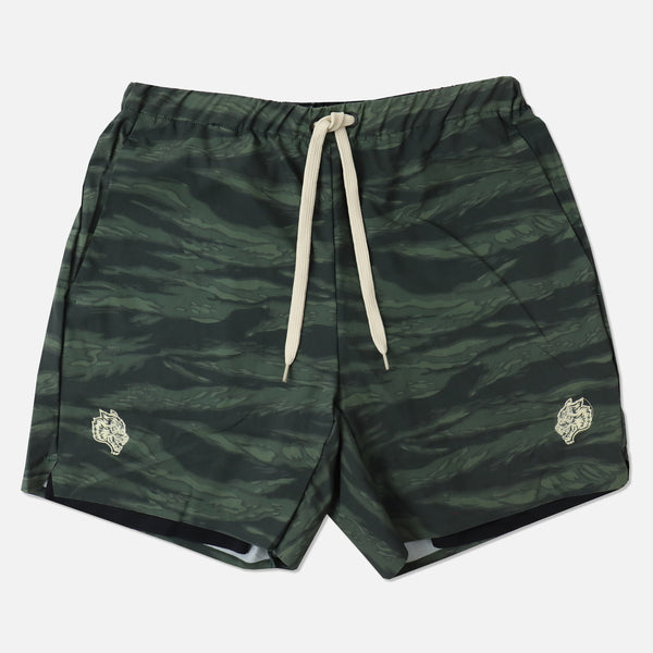 Wolves Compression Shorts in Wolf Camo